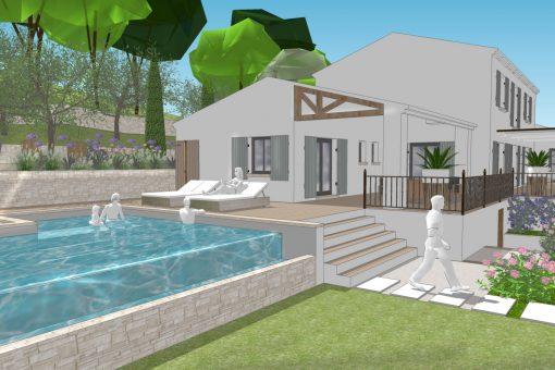 Conceptuelles agence paysagiste et architecte sur aix en provence - Agencement jardin ...