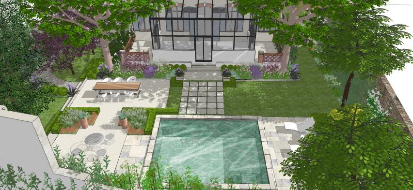 Jardin De Ville Pour Hotel Particulier Conceptuelles