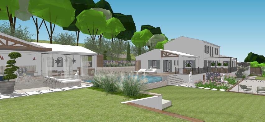 Agencement tendance pour un jardin familial conceptuelles - Agencement jardin ...